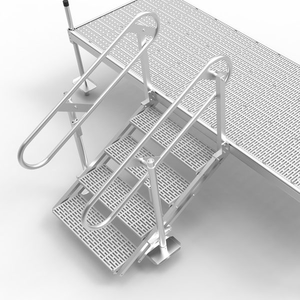Four Step Self Leveling Stairs